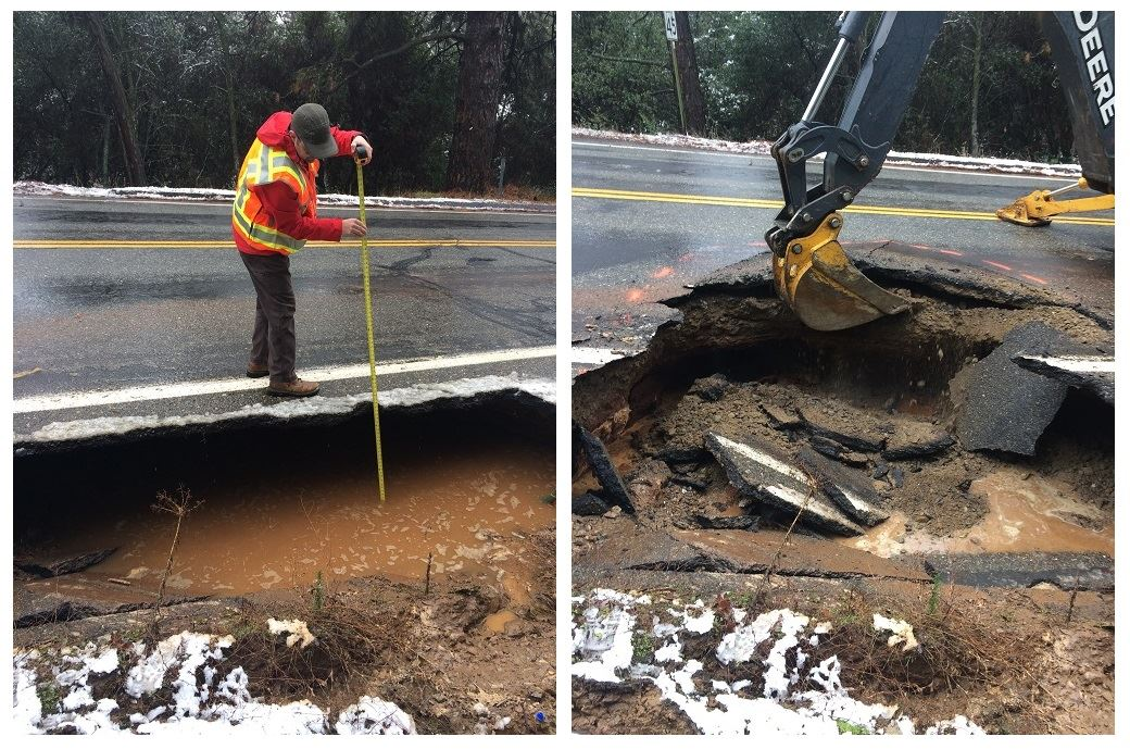 Tuolumne Rd N. - County crews moved quickly to respond to major damage and clear roads from flooding