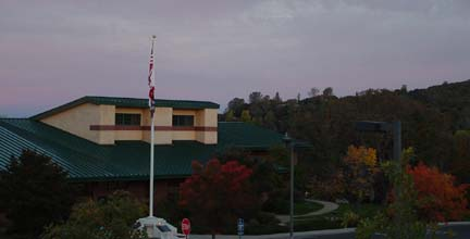 Autumn Sunrise at the Sonora Main Library
