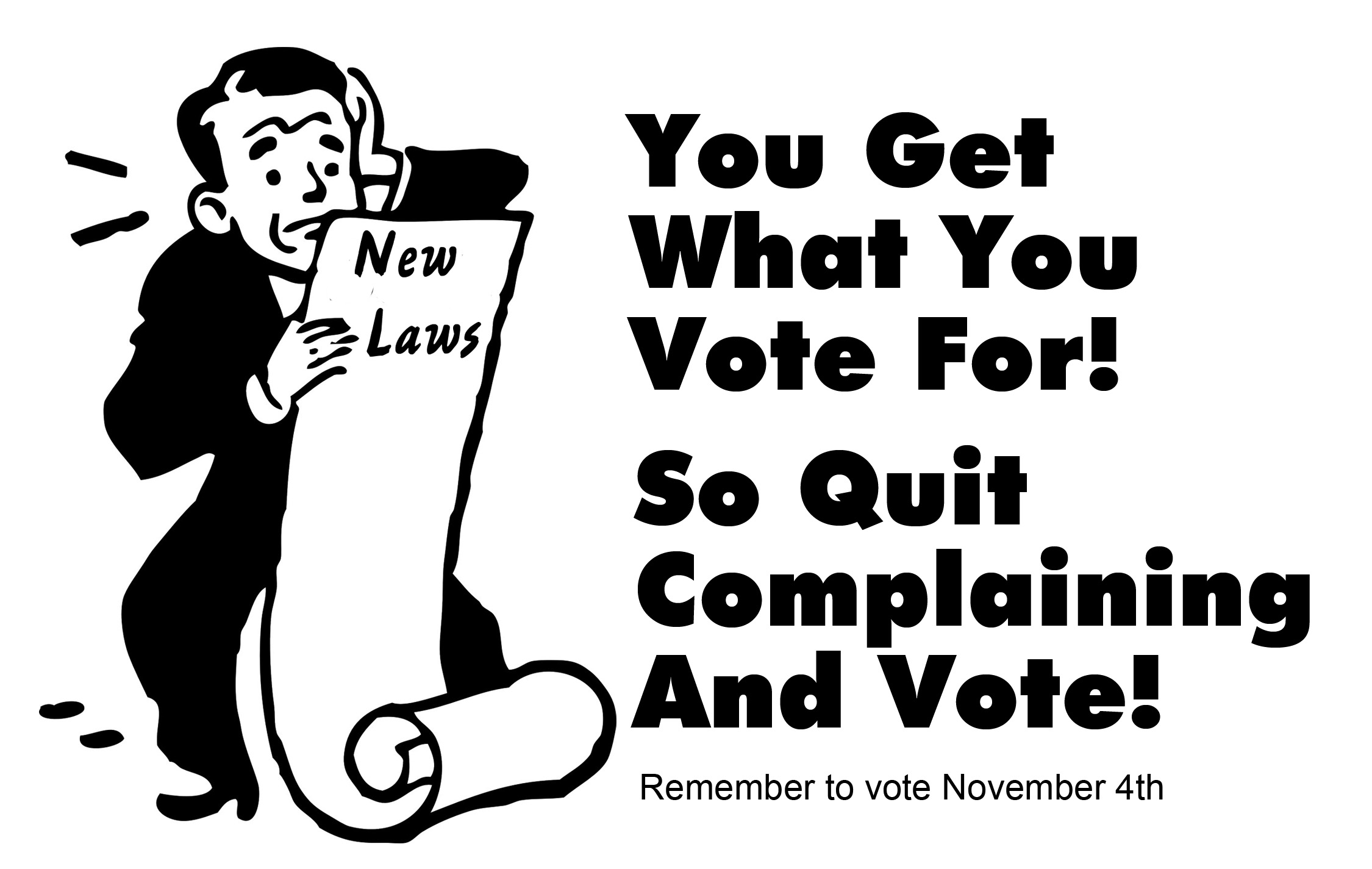 Your Vote Counts Cartoon